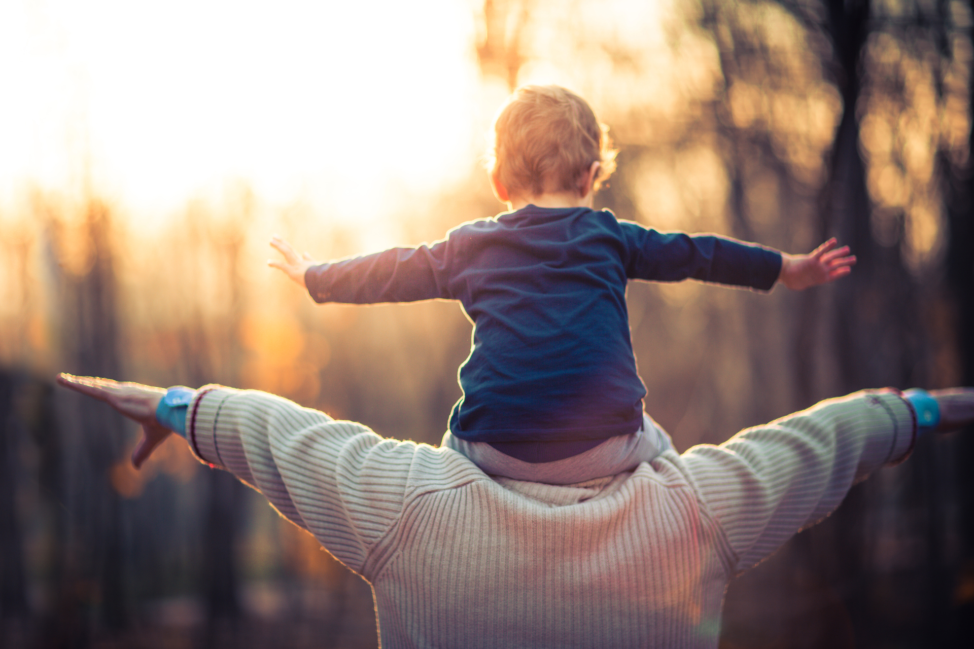 Investing in the future – a grandfather and his grandson in the park